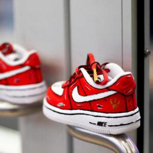 Toronto Raptors Nike AF1 – KIDS SHOE - Premium Hand Painted Custom All Children's Sizes available