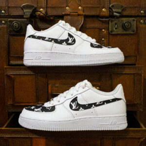 Hand Painted LV Designer Themed Nike Airforce 1